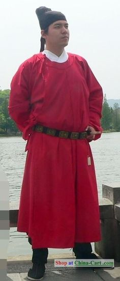China Tang Dynasty Male Clothing and Hat Complete Set