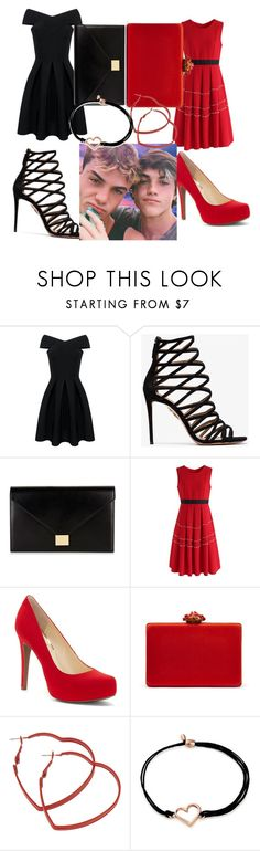 """Double Date #2"" by xbree1x ❤ liked on Polyvore featuring Aquazzura, Victoria Beckham, Chicwish, Jessica Simpson, Oscar de la Renta and Alex and Ani"