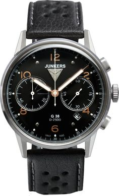 Junkers Watch Junkers G38 #bezel-fixed #bracelet-strap-leather #brand-junkers #case-material-steel #case-width-42mm #chronograph-yes #classic #date-yes #delivery-timescale-1-2-weeks #dial-colour-black #gender-mens #movement-quartz-battery #official-stockist-for-junkers-watches #packaging-junkers-watch-packaging #style-dress #subcat-junkers-g38 #supplier-model-no-6984-5 #vip-exclusive #warranty-junkers-official-2-year-guarantee #water-resistant-100m