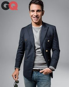 GQ looking shot- just hold an opened envelope- shows the type of customer and the aspirational look for the brand.