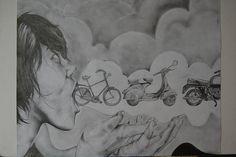 RISD Bicycle Drawing by pea.coat, via Flickr Bicycle Drawing, Pea Coat, Still Life, 2d, Profile, Studio, Drawings, User Profile, Parka Coat