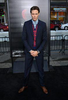 "Gustaf Skarsgård and Alexander Skarsgård come out to support their brother Bill Skarsgård at the Los Angeles premiere of his film ""It."" Skars"