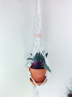 Modern macrame plant hanger-plant holder-indoor plant by freefille