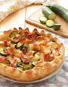 Torta rustica con zucchine e patate Best Italian Recipes, Favorite Recipes, Vegan Gains, Vegan Recipes, Cooking Recipes, Dessert Pizza, Empanadas, Quiche Recipes, Appetisers