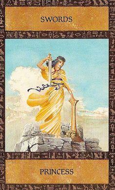 The Ancient Egyptian Tarot ► Princess of Swords