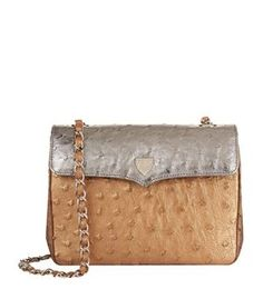 0516b989f220 Lana Marks Medium Ostrich Chain Bag Baubles And Beads
