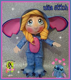 Little Stitch, Origami, Diy Crafts, Character, Angela, Memes, Baby Dolls, Toddler Girls, World