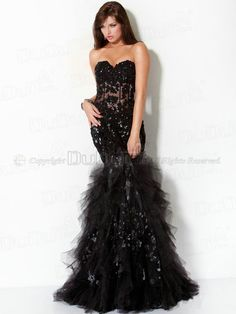 Mermaid/Trumpet Soft Tulle Sweetheart Strapless Floor-length Zipper Sequin Prom Dresses