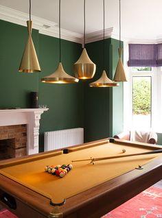 Tom Dixon lights above a pool table