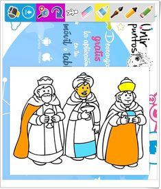 """""""Los Reyes Magos para colorear e imprimir"""""""