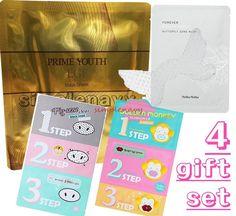 Simplenavy's gift 4F set, Hydrogel Mask Sheet, Eye, Nose, Lip Care, Anti-Wrinkle #HolikaHolika