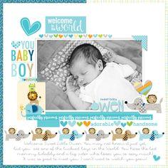 Digital Day Designs With Megan Klauer | Bella Blvd Studio Blog | Sweet Baby Owen