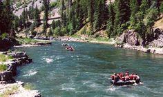 White Water Rafting on the Snake River, South of Jackson Hole, WY.