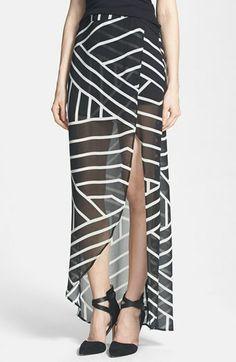 ASTR Wrap Front Chiffon Maxi Skirt on shopstyle.com
