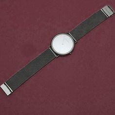 Vintage Georg Jensen Man S Watch 347 Stainless Steel Case Mesh Band Design Thorup Bonderup