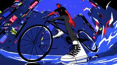 Golden Wolf has mixed bright colours and hyper-dynamic animation to create hip animated spots and GIFs for the Converse Chuck Taylor II. Flat Illustration, Digital Illustration, Converse Chuck Taylor Ii, Motion Graphs, Animation Reference, Drawing Reference, Visual Development, Illustrations And Posters, Motion Design
