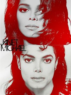 Sister & Brother:  Janet Jackson, Michael Jackson