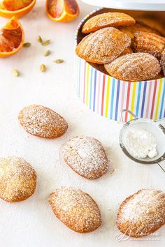 orange madeleines with pistachio and cardamom blood orange madeleines ...