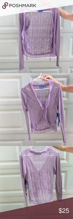 Simply Vera Vera Wang Lilac Cardigan Beautiful and breezy, great to wear with dresses or tanks. Simply Vera Vera Wang Sweaters Cardigans
