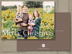 Printable Christmas Card-Custom Family Photo-Christmas Flowers. $15.00, via Etsy.