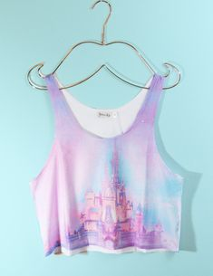 DISNEY CASTLE CROP TOP 27.00 THIS IS MY FAVORITE THING I HAVE EVER FOUND