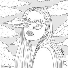 Coloring Pages Nature, Skull Coloring Pages, Love Coloring Pages, Adult Coloring Book Pages, Doodle Coloring, Printable Coloring Pages, Coloring Books, Sailor Moon Coloring Pages, Line Art Images