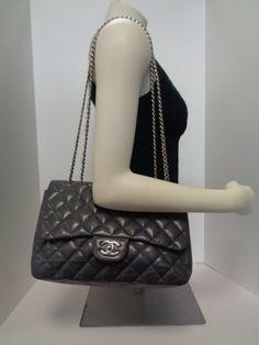 b9c3ad563c9c72 Keeks Buy Sell Designer Handbags - Chanel Grey Lambskin Leather Bijoux  Chain Jumbo Flap, $2,029.99