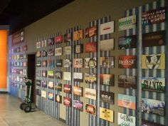 Sermon series wall - Could attach Instagram photos to Foam Core and attach to wall instead.