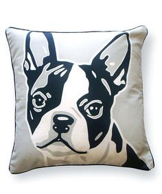 Terriers Doggie Style Reversible Boston Terrier Cotton Throw Pillow - You'll love the Doggie Style Reversible Boston Terrier Cotton Throw Pillow at Wayfair - Great Deals on all Décor Boston Terriers, Boston Terrier Temperament, Boston Terrier Love, Pitbull Terrier, Terrier Puppies, I Love Dogs, Cute Dogs, English Terrier, Terrier Breeds
