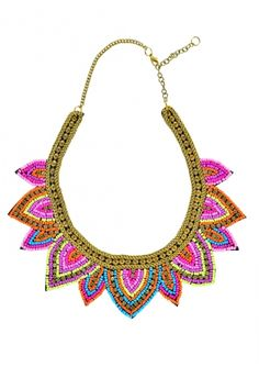 Bohemian Colorful Bead Bib Necklace 27,90 € #happinessbtq