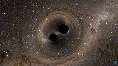 Ligo, l'acronyme de Laser Interferometer Gravitational-Wave Observatory, en anglais, nous a permis de détecter l'onde gravitationnelle produite par la collision puis la fusion de deux trous noirs d'environ 30 masses solaires chacun. Mais à quoi aurait ressemblé visuellement l'événement pour des observateur à quelques milliers de kilomètres ? Des simulations numériques nous permettent de le découvrir. L'image ci-dessus, avec des effets de lentille gravitationnelle, est extraite de l'une…