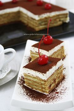 Biscuit cake You can find more fantastic recipes to try out and share with your… Romanian Desserts, Romanian Food, Romanian Recipes, Just Desserts, Delicious Desserts, Yummy Food, Baking Recipes, Cake Recipes, Dessert Recipes