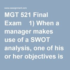 mgt week 5 knowledge check Get connected to the largest online education portal to get help with mgt 521 week 5 quiz or knowledge check if you need extra support with your course material, tutorial services can help.