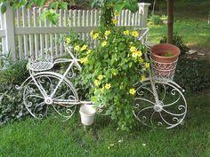 Bahçelerde bisiklet dekoru 4