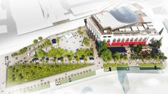 Sochi Gorkogo Concept development for territory adjacent to the multifunctional shopping and entertainment complex.