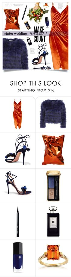 """True Romance:True Romance: Winter Wedding"" by marina-volaric ❤ liked on Polyvore featuring Boohoo, Alice + Olivia, Aquazzura, Anya Hindmarch, Guerlain, Bobbi Brown Cosmetics, Jo Malone, Lancôme, Annello and winterwedding"
