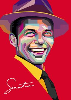frank sinatra detailed, premium quality, magnet mounted prints on metal designed by talented artists. Our posters will make your wall come to life. Frank Sinatra Poster, New York Art, Disney Drawings, Cool Artwork, Easy Drawings, Poster Prints, Posters, Music, Vector Design
