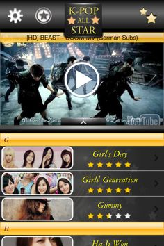 K-POP All Star is an application that keeps you up-to-date with the latest information about more than 200 K-POP Groups, Bands and Singers in real-time from Wikipedia / YouTube / Flickr / Twitter and many more. Get updates and details on all your favorite stars about their likes and dislikes, their background, news about their work, and what's going on with their personal lives. You'll be able to impress all your friends with your knowledge about all the K-POP stars!!