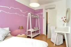 Room Venezia B&B Stop and Sleep Udine Front Station #art #design #sleeping #dream #pink #travel