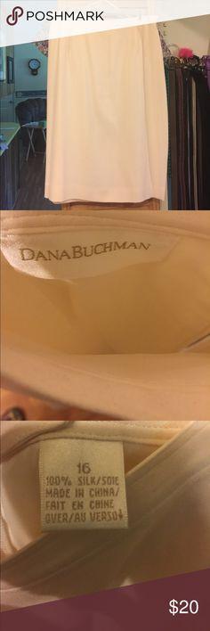 Take 50% off Till 12-3 Cream color silk skirt NWOT Elegant lined silk skirt NWOT Dana Buchman Skirts Midi
