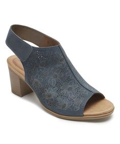 21dc267890c Blue Hattie Perforated Leather Sandal - Women