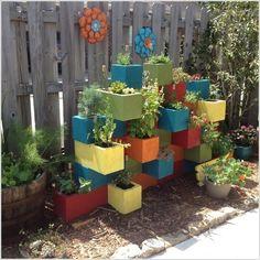 Cinder block garden