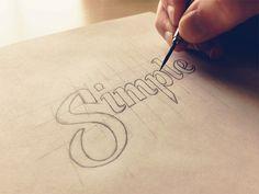 simple-sketch #lettering #typography #design #pencil