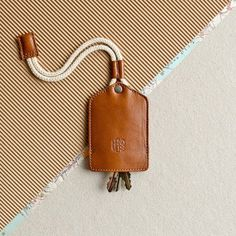 keychain key fob key ring by HANDWERS - Phone Grip Ring - Ideas of Phone Grip Ring - Leather keychain key holder. keychain key fob key ring by HANDWERS Leather Key Holder, Leather Key Case, Leather Keyring, Leather Gifts, Leather Tooling, Leather Craft, Leather Wallet, Crea Cuir, Key Bag