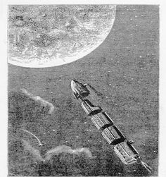 - Topic 5 - Drawings related to Jules Verne and his work Apollo 9, Jules Verne, Random Stuff, Sci Fi, English, Drawings, Art, Random Things, Art Background