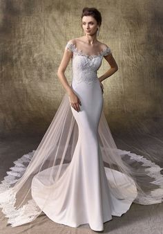 Explore HCTB's wedding dresses & bridal gowns collection at our San Diego store! Shop for designer wedding dresses from our San Diego bridal boutique today! Long Gown For Wedding, Elegant Wedding Dress, Cheap Wedding Dress, Wedding Gowns, Ivory Wedding, Grey Bridesmaid Dresses, Bridal Dresses, Prom Dresses, Sweet Dress
