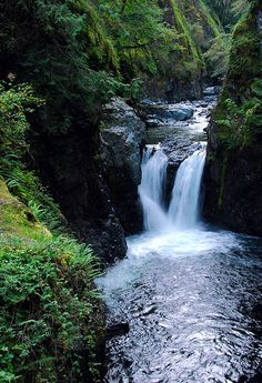 Little Qualicum Falls by Len Langevin, via Flickr (Vancouver Island, BC)