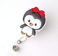 Hey, I found this really awesome Etsy listing at https://www.etsy.com/listing/114498982/baby-penguin-name-badge-holder-cute
