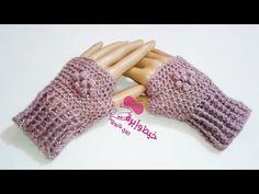 كروشيه جوانتى | قفازات بدون أصابع | خيط وابره | Crochet Mittens | Finger...