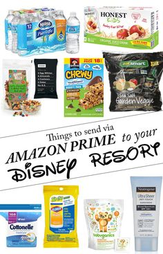 Things that you can send via Amazon Prime directly to your Disney resort | Save time, money in the parks and room in your suitcase with this trick!